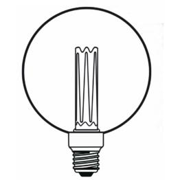 Ampoule LED globe Ambré Forme