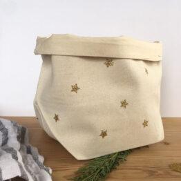 Panière étoiles dorées suitecréative