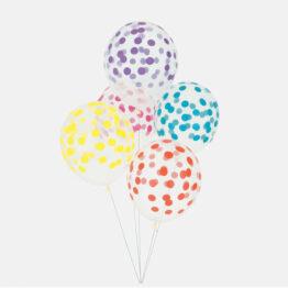ballon confettis multicolore