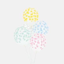 Ballon confettis pastel