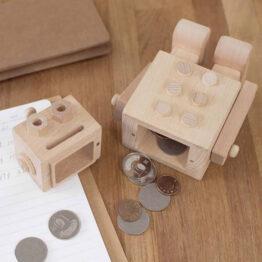 tirelire robot Carpenter ouverte