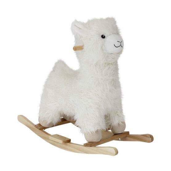 Lama à bascule blanc bloomingville