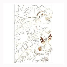 affiche à colorier dinosaure