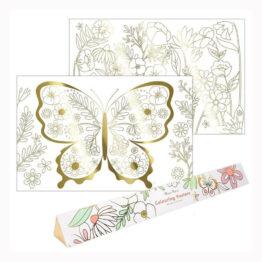 affiche à colorier papillon Meri Meri