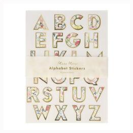 10 feuilles de stickers sur l'alphabet