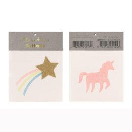 tatouage étoile et licorne de Meri Meri
