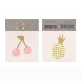 tatouage cerise et ananas Meri Meri