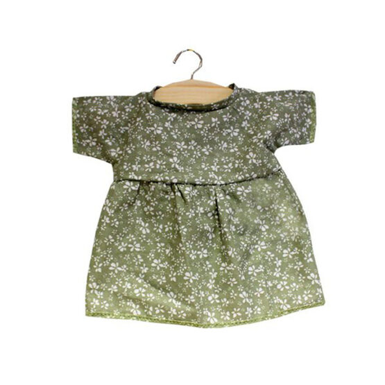 Robe faustine fleurie vert tilleul