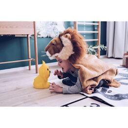veilleuse lion mis en scène