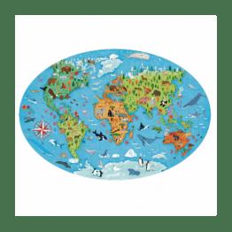 puzzle ovale du monde