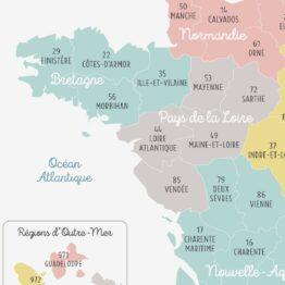 carte de france avec nouvelle région