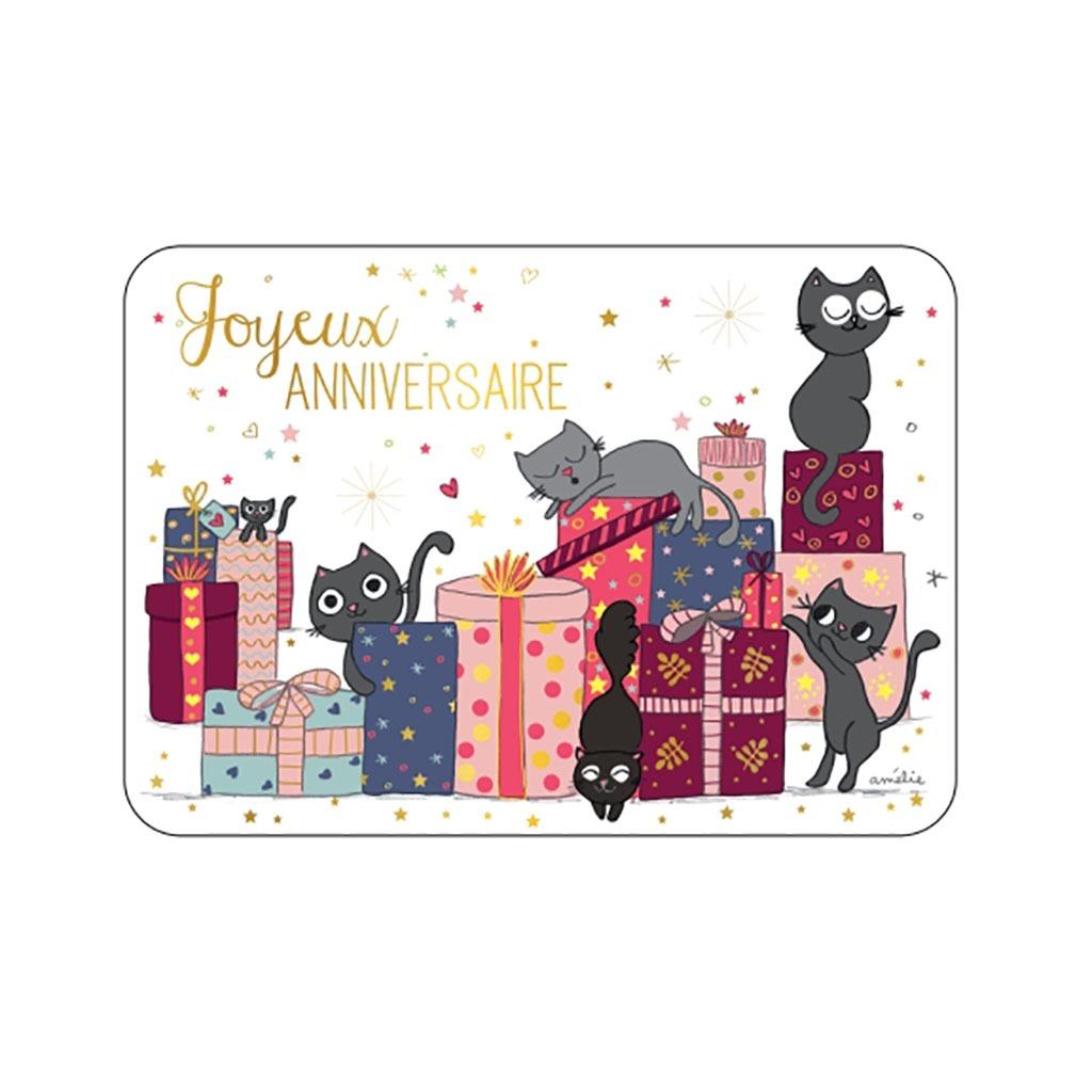 Carte Joyeux Anniversaire Chat Little Marmaille