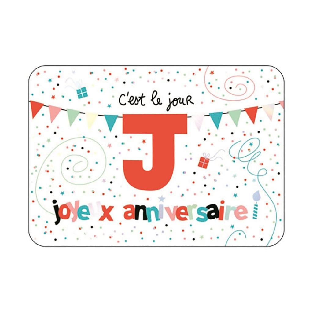 Carte Joyeux Anniversaire C Est Le Jour J Little Marmaille