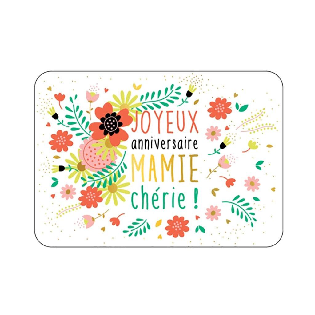 Carte Joyeux Anniversaire Mamie Cherie Little Marmaille