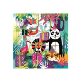 carte puzzle anniversaire animaux de la jungle