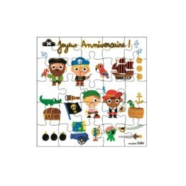 carte puzzle anniversaire pirate