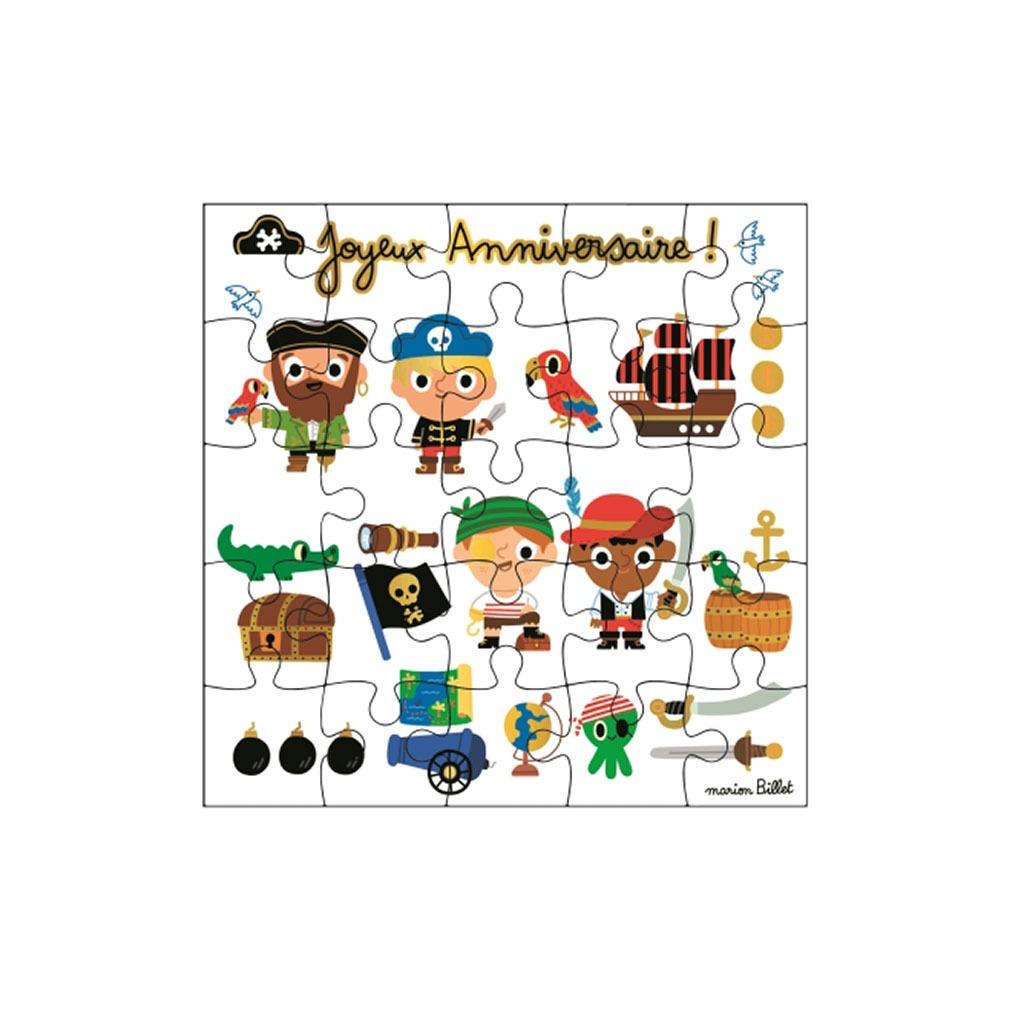 Carte Puzzle Joyeux Anniversaire Pirate Little Marmaille