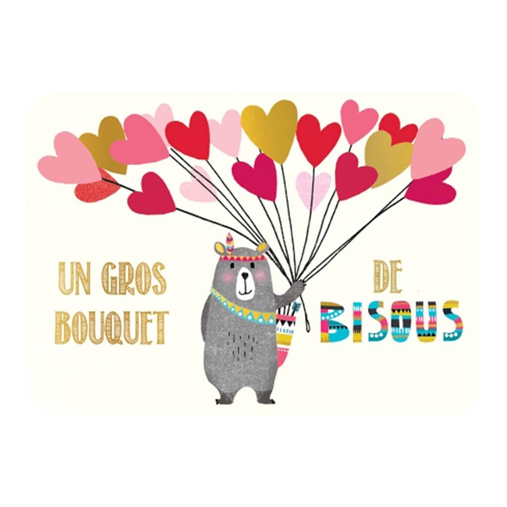 Carte Un Gros Bouquet De Bisous Little Marmaille