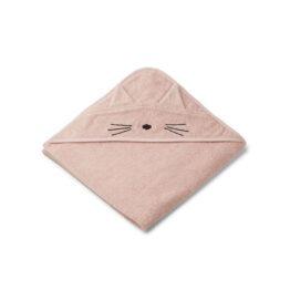 Sortie de bain chat rose