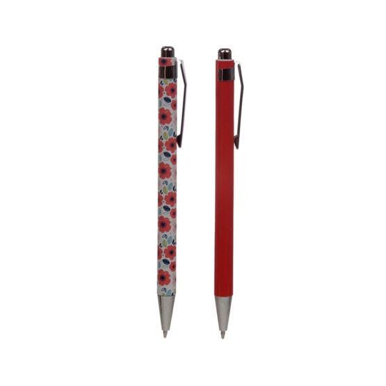 stylos coquelicots